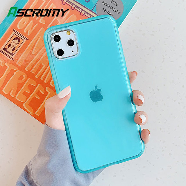 Clear Case For iPhone 11 Pro Max X XS XR 8 Plus 7 6 6S Soft Silicone Cover Matte Bumper Slim Shockproof Cases Luxury Accessories
