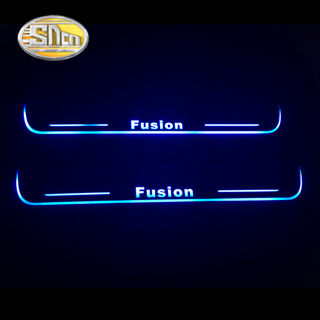 SNCN LED moving light scuff pedal for Ford Fusion 2013 ~ 2020car acrylic led door sill welcome pedal