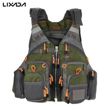Lixada Fly Fishing Vest  Adjustable Mesh Mutil-Pocket Outdoor Sport Life Safety Jacket Swimming Sail for Pesca fishing clothes