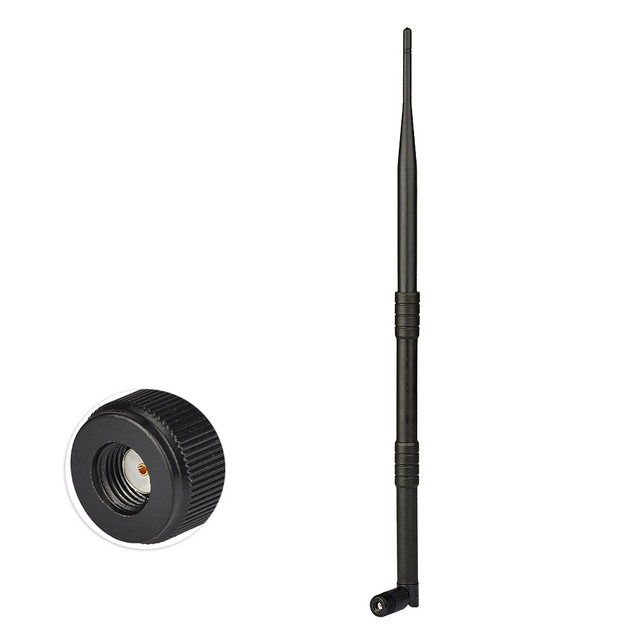 Superbat 9dBi 2.4GHz Omni Booster Aerial WiFi Antenna RP-SMA Plug for Wireless Router WLANs PCI card Rubber Antenna