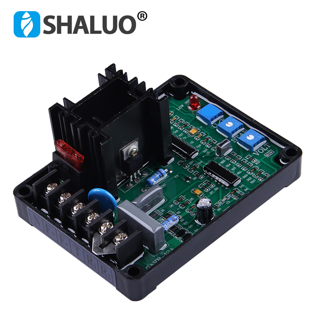 Universal brushless Generator AVR 12A Champion Generator Parts ac Electrical Controlled Automatic Voltage Regulator GAVR-12a