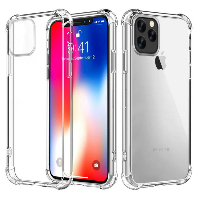 Luxury Case For iPhone 12 Mini 11 Pro Max X XS MAX XR 10 8 7 6 s Plus SE 2020 Capinhas Ultra Thin Slim Soft TPU Silicone Case
