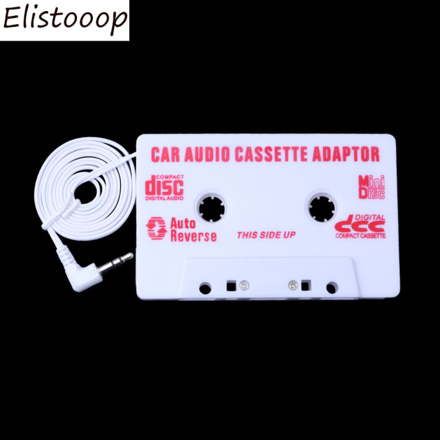 New Universal 3.5mm Jack Car Cassette Car Audio Cassette Tape Adapter for iPod MP3 CD DVD Player Black Car Stereo