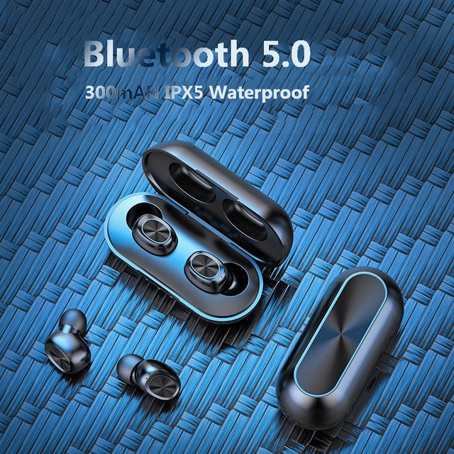 Ottwn B5 TWS Bluetooth 5.0 Earphones Wireless Waterproof Sports Gaming Earbuds HD Stereo In Ear With Charger Case For iPhone