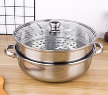 Stainless Steel Soup Steamer 28 Cm Double Layer Steaming Soup Dual Use Pot Multi-functional Hot Pot Cooking Multi-Layer Gift Sou