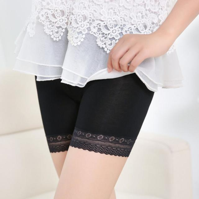 Fashion Women Lace Tiered Skirts Short Skirt Under Safety Pants Underwear shorts Shapewear Underwear pant short pants women FDH