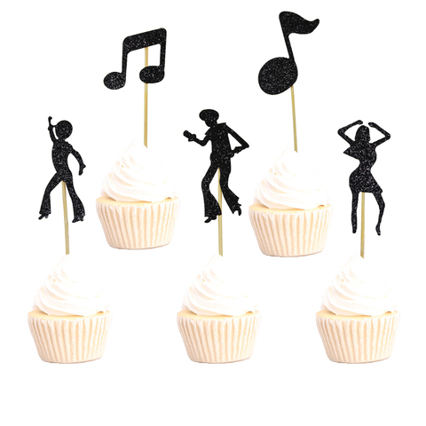 1set Rainbow Cake Topper Birthday Party Decorations Kids Favor Cupcake Topper