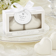 """Free shipping 30sets/lot  wedding favor ceramic Favors """"A Dash of Love"""" Ceramic Heart Salt & Pepper Shakers party favor gift"""