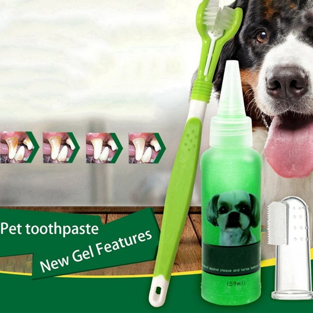 Vanilla/Beef Taste Pet Tooth Paste for Dogs Cat Teeth Brush Cleaner Pet Breath Freshener Oral Care Dental Cleaning Kit Wholesale