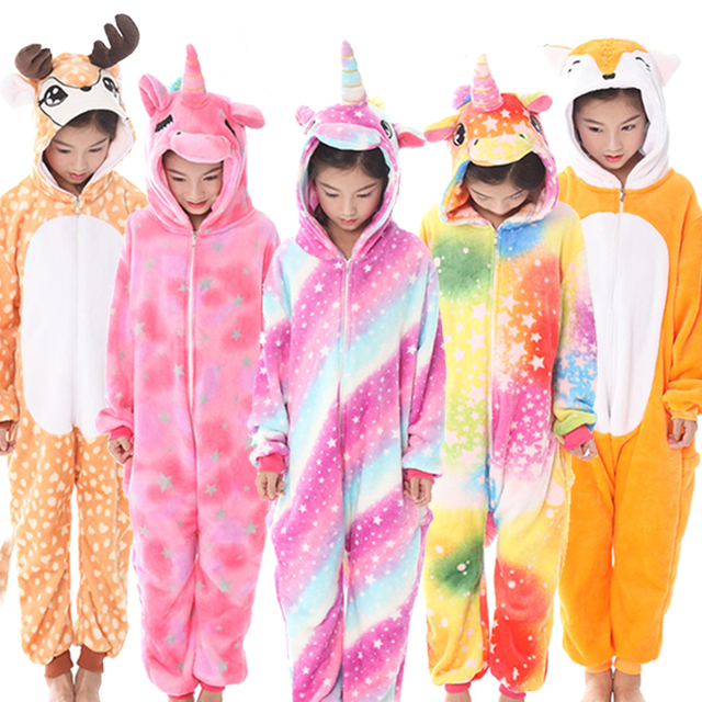 Kigurumi Unicorn Pajamas Kids Animal Children Pajamas For Boys Girls Baby Pyjamas Stitch Onesies Winter Sleepwear Anime Jumpsuit Buy Cheap In An Online Store With Delivery Price Comparison Specifications Photos And