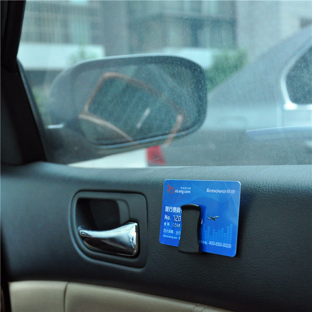 Multifunctional Card Glasses Ticket Car Clip hot sale Holder black
