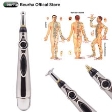 Electronic Acupuncture Pen Electric Meridians Laser Therapy Heal Massage Pen Meridian Energy Pen Relief Pain ToolsNeck Leg