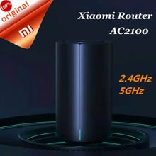 Xiaomi Mi Router AC2100 Dual Frequency 2.4GHz 5GHz 128MB Dual Core WiFi Repeater 360° Coverage CPU Remote APP Control For Mihome