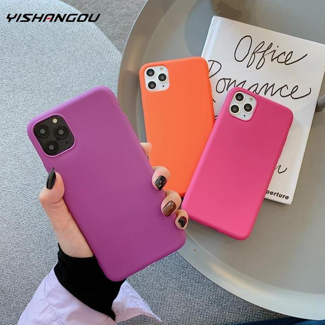 YISHANGOU Matte Case For iPhone 11 Pro Max XS XR X 10 8 7 Plus Plastic Hard Shockproof Cover For iPhone 11 Pro Case Capa
