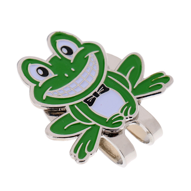 Novelty Frog Sports Golf Ball Marker With  Hat Clip Golfer Xmas Gift