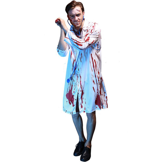 HALLOWEEN MENS BLOODY SURGEON DOCTOR OUTFIT FANCY DRESS COSTUME PARTY SCARY
