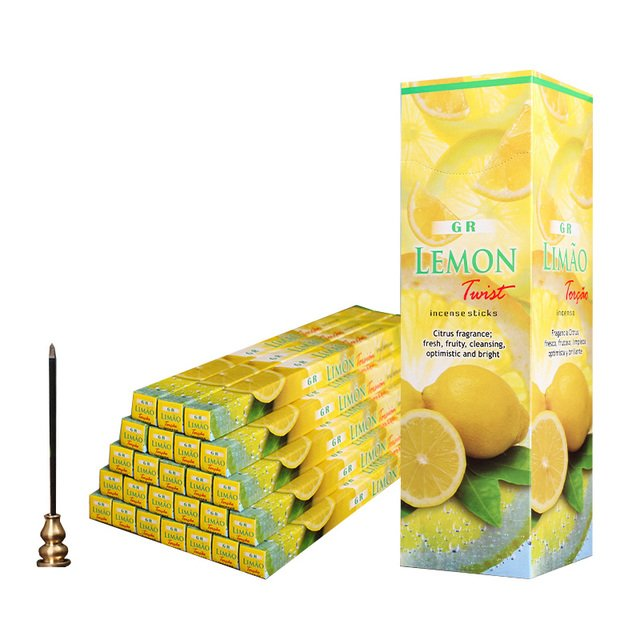 Fruity Aroma Lemon Indian Incense Sticks 5/15/25 Tubes Handmade High Quality Stick Incense Scent for Home Buddhist Supplies