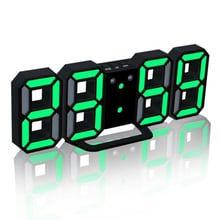 3D LED Digital Alarm Clocks Wall Hanging Watch Snooze Function Table Clock Calendar Thermometer Display Office Electronic Watch