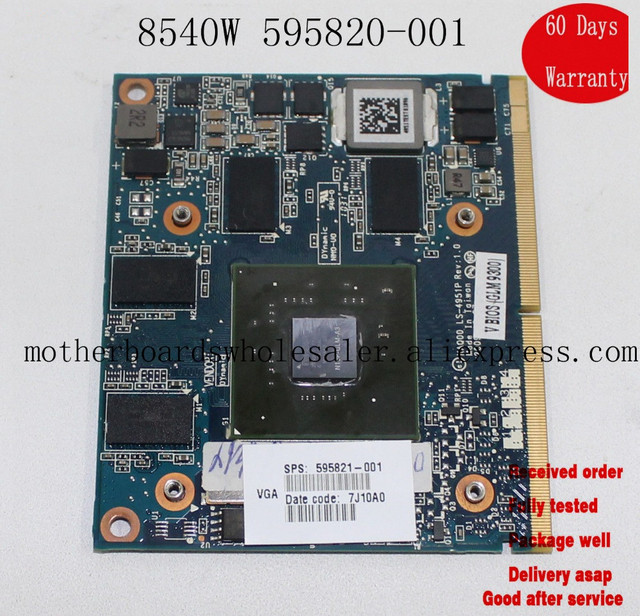 595820-001 Graphics Card For HP VIDEO CARD 1GB LS-4951P ELITEBOOK 8540W 8540P SERIES