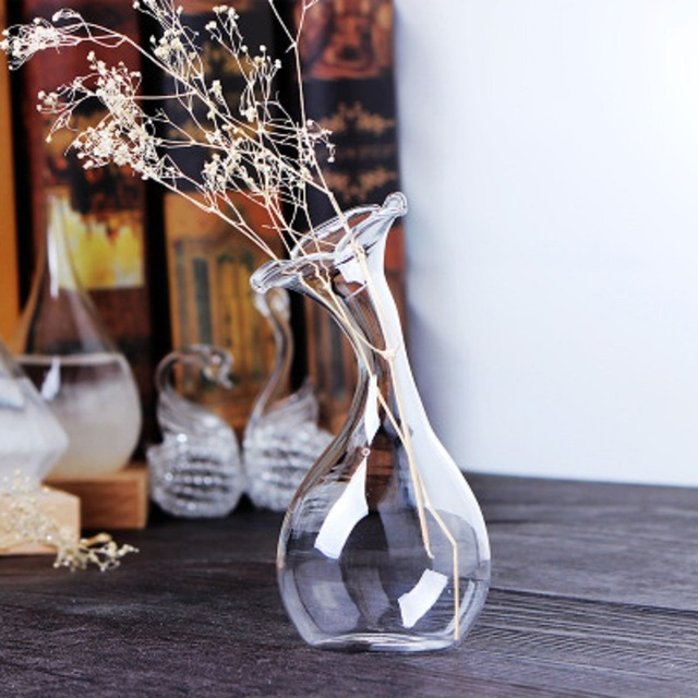 Nordic Handmade Glass Vases Living Room Table Decoration Transparent Water Hydroponics Flowr Dry Flower Vase DIY Valentine's Day