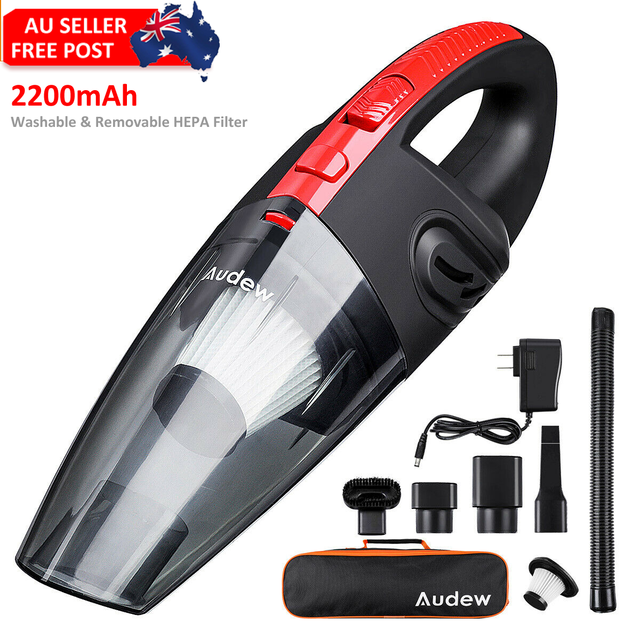 AUDEW 120W 4000pa Handheld Cordless Vacuum Cleaner for Car Home Use HEPA Filter Mini Portable Rechargeable Wet Dry 2200mAh