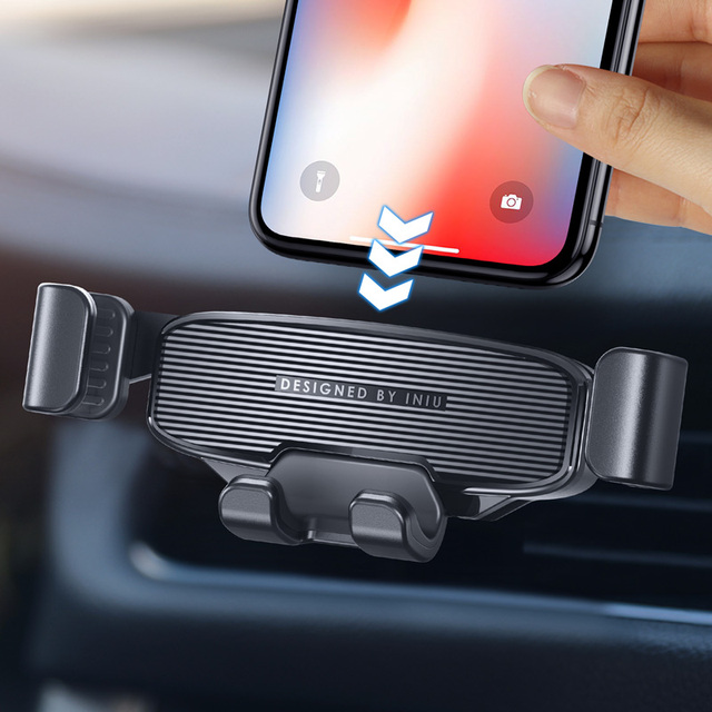 INIU Gravity Car Holder For Phone Air Vent Clip Mount Mobile Cell Stand GPS Support For iPhone 12 11 Pro Max Xiaomi mi 10 Redmi