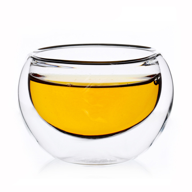 Coffee Mugs Handmade Clear Beer Fruit Juice Glass Cup Double Wall Layer 50ml Container Glassware Mini Size Milk Bar Tool