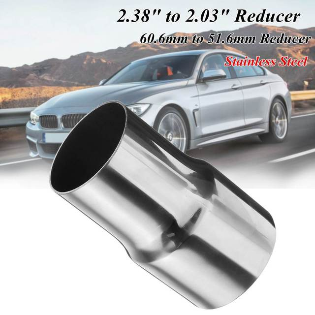 """Universal 60-50mm Car Exhaust Reducer Connector Pipe 2.38""""-2"""" Auto Exhaust Muffler Pipe Reducer Adapter Stainless Steel"""