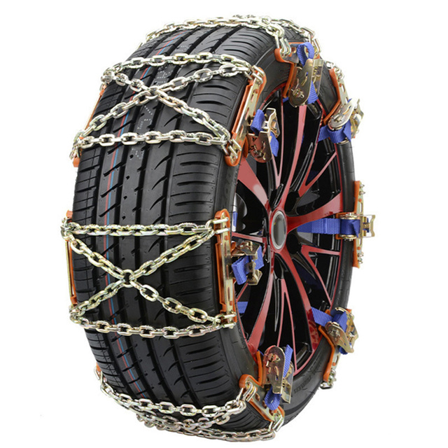 Car Tyre Anti-skid Chain Winter Car Tire Snow Chains Emergency Chain Steel Chain for Ice Snow Mud Road Safe Driving