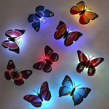 Colorful Butterfly Led Night Light Beautiful Wall Night Lights 3d Wall Sticker Color Random For Home Bedroom Decorative Buy Inexpensively In The Online Store With Delivery Price Comparison Specifications Photos