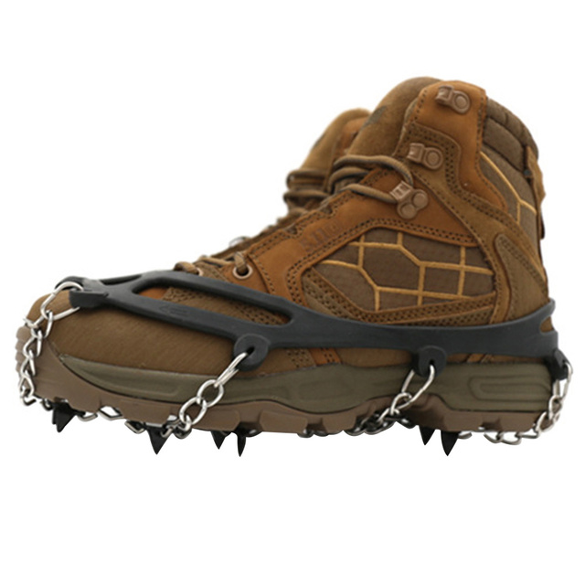 Ice Gripper Shoe Cover Cleats Snow Crampons Winter Non Slip Outdoor Manganese Steel Climbing Hiking Spikes