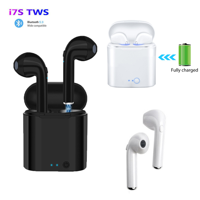 i7s TWS Wireless Headphones Bluetooth 5.0 Earphone Earbuds Sport Headset With Charging Box For Apple iPhone Android