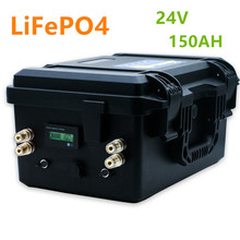 Lifepo4 24V 150ahbattery pack lithium ion battery pack built-in BMS with 20A charger for RV,boat,solar system,inverter