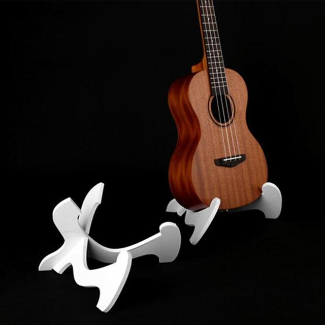 Guitar Stand Foldable Ukulele PVC Wooden Holder Stand Collapsible Vertical Rack Instrument Guitar Accessories