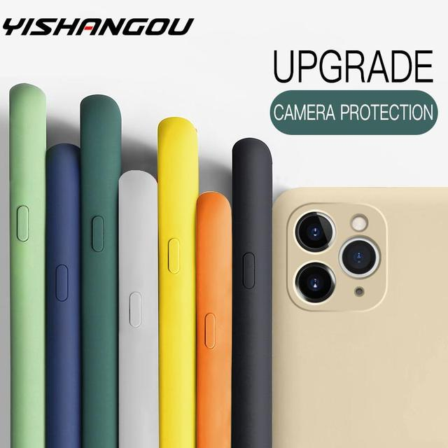 Thin Soft Case For iPhone 12 7 8 6 6s Plus SE 2 Original Liquid Silicone Cover Candy Color Coque For iPhone X Xs 11 Pro Max XR