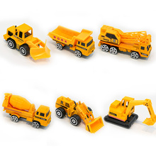 Mini Alloy Engineering Car Model Tractor Toy 6Pcs/Set Diecast Vehicle  Dump Truck Model Classic Toy Vehicles Mini Gift For Boys