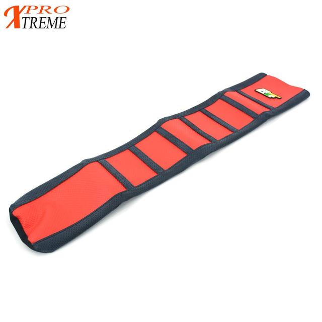 Red Rubber Gripper Soft Seat Cover For Honda CRF 450R CRF450R 2017 Motorcycle Motocross Enduro Dirt Bike Off Road
