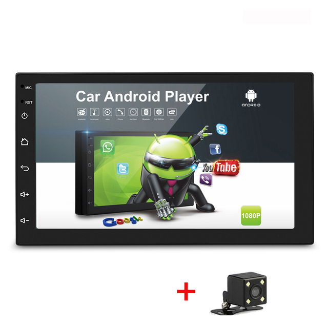 """2+16G Android 9.1 2 Din Car MP4 MP5 HD  7"""" Touch Screen Multimedia Radio 2Din Bluetooth GPS Navigation Wifi FM with camera 48"""