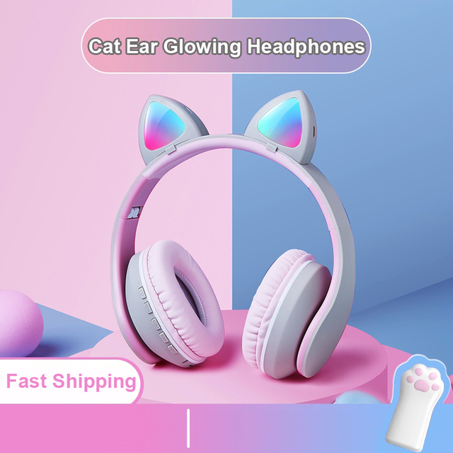Wireless Bluetooth Gaming Music Headphones Stereo Heavy Bass Cordless Headset Support AUX FM Radio with Mic for Pc Computer Game