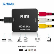Адаптер KEBIDU HDMI в RCA AV/CVBS HD 1080P Mini HDMI2AV для PS3 VCR DVD PALMTSC PC