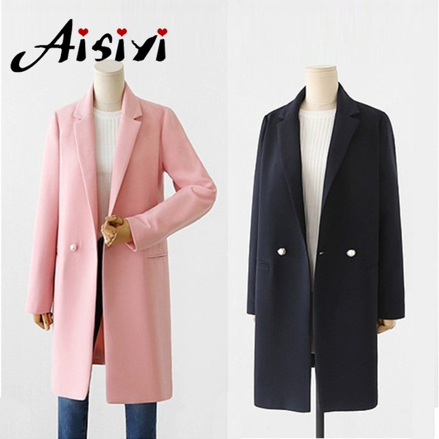 2019 Spring New long blazer for women Long Suit female Loose Casual  trench coat women's office outwear Autumn