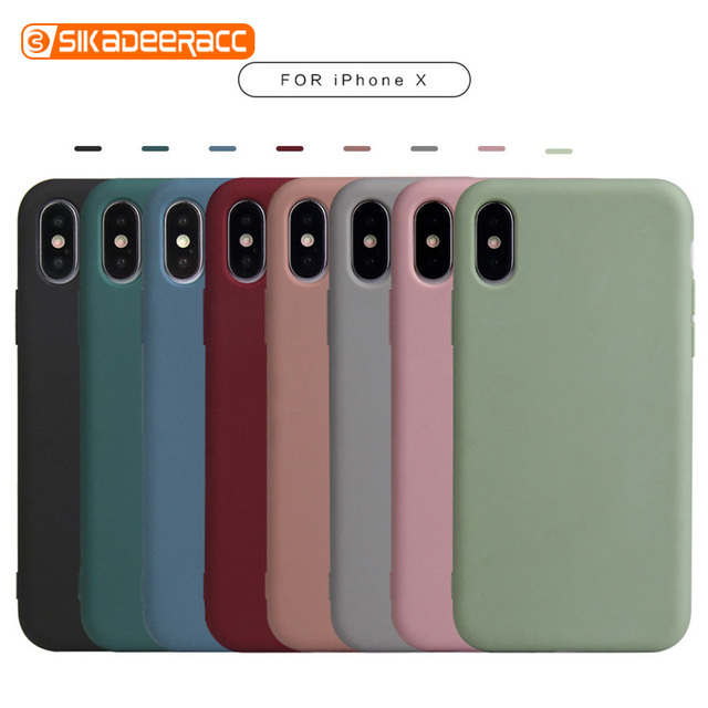 Matte Phone Case For iPhone 11 Pro 6 6s 7 8 Plus X XR XS Max Soft Shell Coque Candy Color Simple Cute Solid Plain Cover Capa