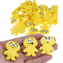 5/10 Pcs DIY AntiStress Squishy Elastic Yellow Color Doll Slow Rising Squeeze Funny Toys Smlile Gift For Kids X010