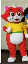 Hot Sale New Custom Made Red cat mascot costume 44 cats Mascot Costume For Adult Free Shipping