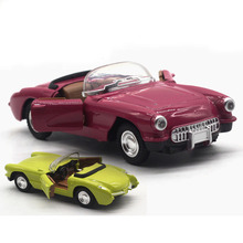 1:28 Alloy Car Model Simulation Boys Toys Convertible Classic Car Toy Sound Light Pull Back Children Toy Car Model Display Gift