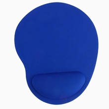 Mouse Pad with Wrist Rest - Blue