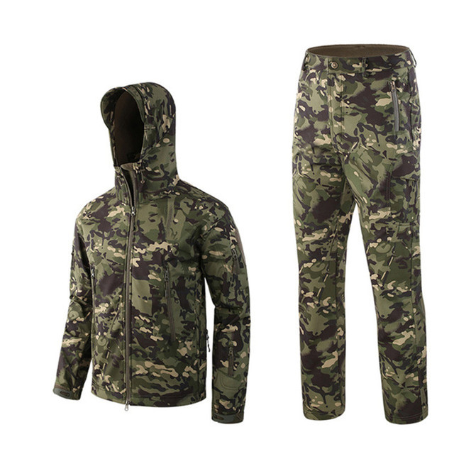 Outdoor Waterproof Jackets Suit TAD V4 Softshell Tactical Hunting Outfit Thermal Clothes Hiking Breath Sport jacket and pants