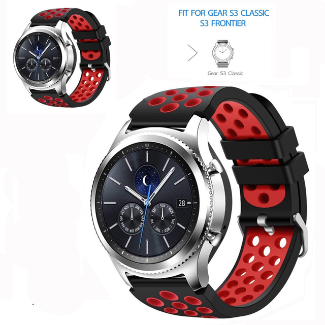 Sport band For samsung gear s3 Frontier/Classic/Galaxy 46mm silicone replacement rubber watch strap bracelet 22mm watchband