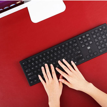 2.4Ghz Wireless Metal Keyboard Full Size 109 keys, Premium  aluminum Ultra thin USB keyboard and mosue combo for computer/laptop