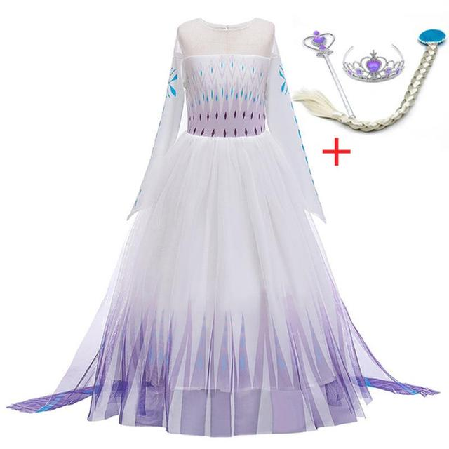 Long Sleeve Girls Elsa Dress Children Clothing Fancy Elsa Cosplay Costume Kids Dresses For Girls Party Princess Dress Vestidos